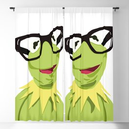 Hipster Kermit - the Optimistic Frog Blackout Curtain