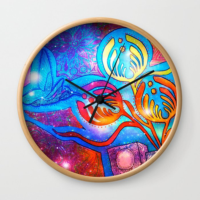 Cosmic Hummingnectar Wall Clock