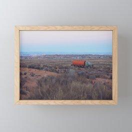 Pastel Sunsets in the Desert, Plus Truck Framed Mini Art Print