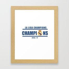 Real Madrid Campeones Champions La Liga 2017 Framed Art Print