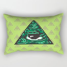 Illuminati pixel art Rectangular Pillow