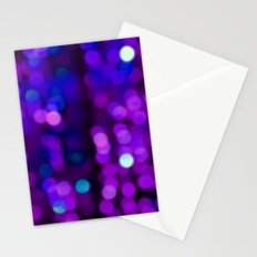 Glitter, Purple Disco Fever, happy new year, Sparkle, blue home decor, art, dots, point, glow Stationery Cards