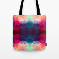 reassurance Tote Bags featuring Reassurance Rorschach  by Caleb Troy