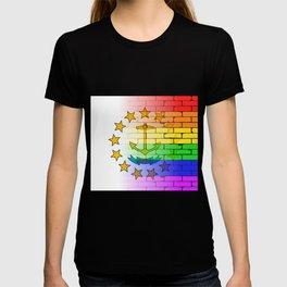 Rainbow Wall Rhode Island T-shirt