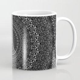 Monochrome Glass Mosaic Mandala Coffee Mug