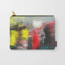 City in Red, Yellow and Aqua Abstract Carry-All Pouch
