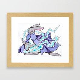 Water Bending Bunny Framed Art Print