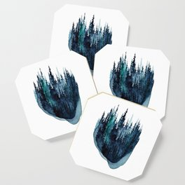 Turquoise Glow - Pine Forest Coaster