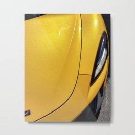 Volcano Yellow McLaren 570S Metal Print