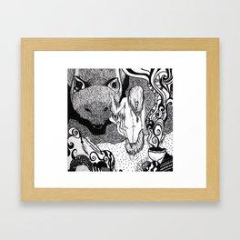Bear Bride Framed Art Print