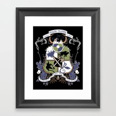 Dragon Training Crest - How to Train Your Dragon Framed Art Print