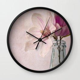 Flowers in Bottle Wall Clock
