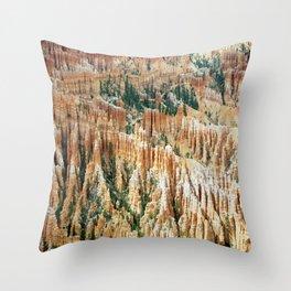 stone usa bryce canyon utah national park Throw Pillow