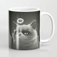 grumpy Mugs featuring No! by Dr. Lukas Brezak