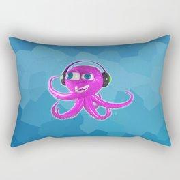 DJ Octopus Rectangular Pillow