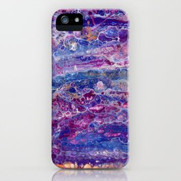 Psycho - Stream of Consciousness in Lively Color Flow by annmariescreations iPhone Case