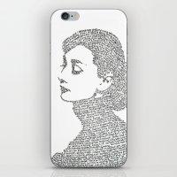 hepburn iPhone & iPod Skins featuring Audrey Hepburn by S. L. Fina