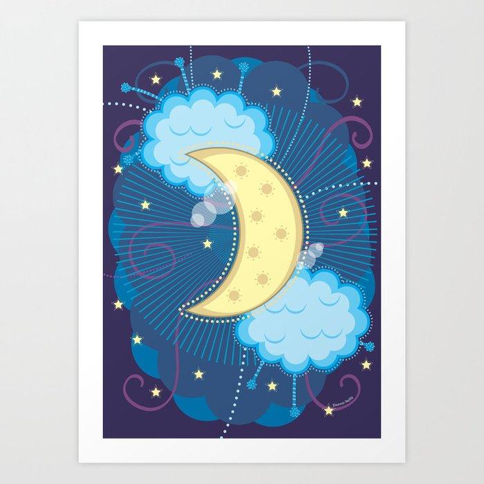 Willow Moon Art Print