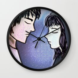 Two in the Rain Wall Clock