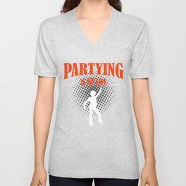 Partying Unisex V-Neck