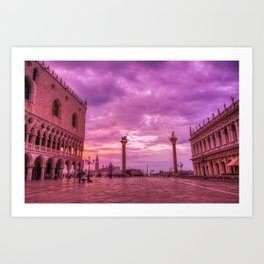 Piazza San Marco and Palazzo Ducale in Venice Art Print