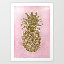 Glitter Pineapple Art Print