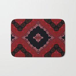 Red and Black Diamond Love Pattern Bath Mat