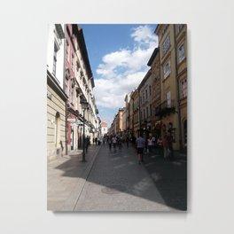 Floriańska Street, Kraków Old Town, Poland Metal Print