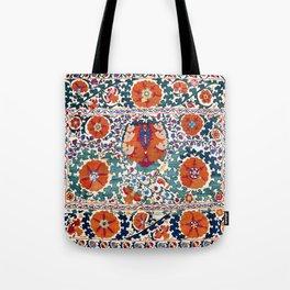 Shakhrisyabz Suzani Uzbekistan Antique Embroidery Print Tote Bag