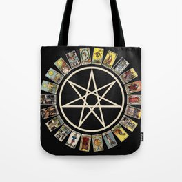 Fairy Star & Tarot Circle Tote Bag