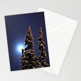 Moonlight in Lapland, Finland Stationery Cards