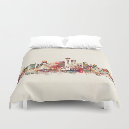seattle washington Duvet Cover