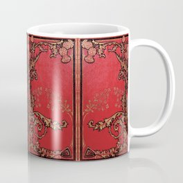 Red and Gold Thistles Coffee Mug