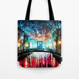 Tardis With Beautiful Starry Night Tote Bag