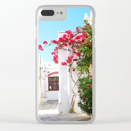 Pyrgos flowers Clear iPhone Case