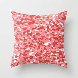 Red Camouflage Camo Pattern Throw Pillow