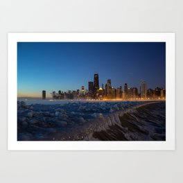Chilling Chicago Art Print