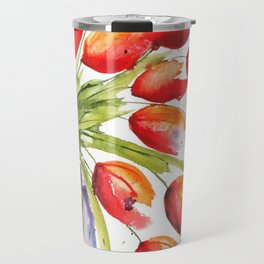 Tulips Overflowing Travel Mug