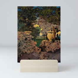 The oaks, the garden of years and other poems floral portrait by Maxfield Parrish Mini Art Print