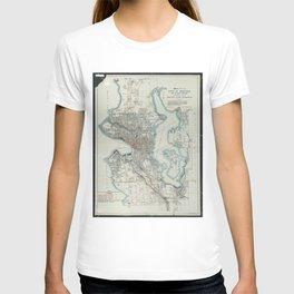 Vintage Map of Seattle Washington (1911) T-shirt