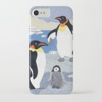 penguins iPhone & iPod Cases featuring Penguins by gnarlycat