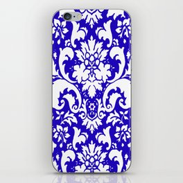 Paisley Damask Blue and White iPhone Skin