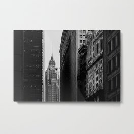 Close-up view of 70 Pine Street skyscrapers in Financial District Lower Manhattan New York City Metal Print