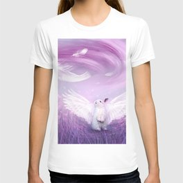 Under His Wings - Purple Gray T-shirt