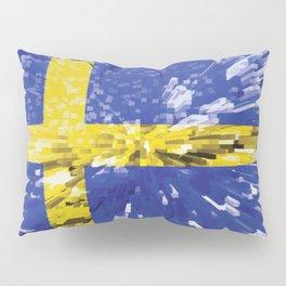 Extruded Flag of Sweden Pillow Sham