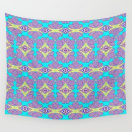 Trippy Funky Pastel Vintage Retro Psychedelic Print Wall Tapestry
