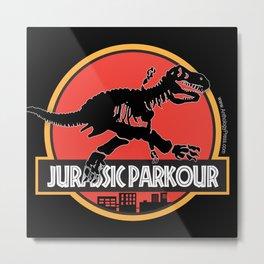 Jurassic Parkour Metal Print