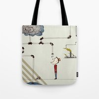 cycle Tote Bags featuring cycle by bri musser