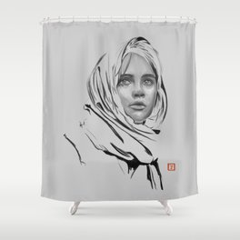Jyn Erso: sketch-painting Shower Curtain