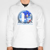super smash bros Hoodies featuring Sonic - Super Smash Bros. by Donkey Inferno
